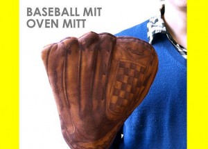 「野球が好き・・・そして料理も好き」そんな彼氏が喜ぶミット型鍋つかみ