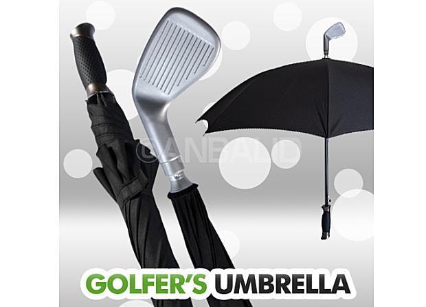 駅のホームで見かけるあの風景「傘でゴルフの素振り」ができます♪