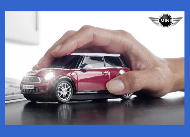ミニクーパーS レッド【CLICK CAR MOUSE】クリックカーマウス USBナノ 光学式マウス ワイヤレス・電池式