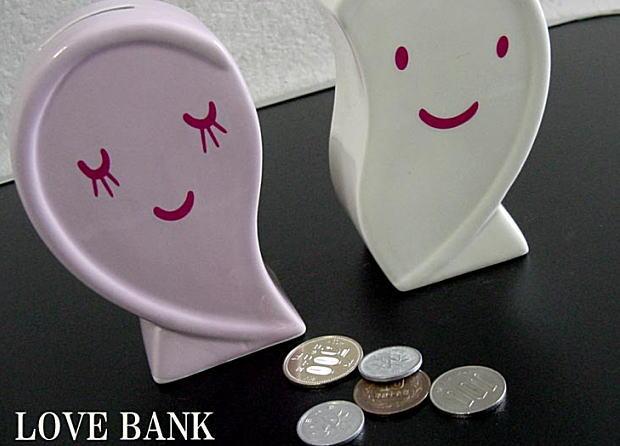 おもしろ雑貨のハートの貯金箱!ラブハートペアバンク