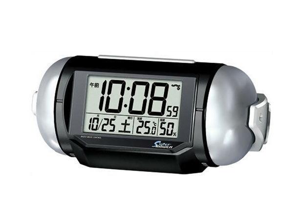 PYXIS (ピクシス) 目覚まし時計 スーパーライデン デジタル 電波時計 大音量 NR523K